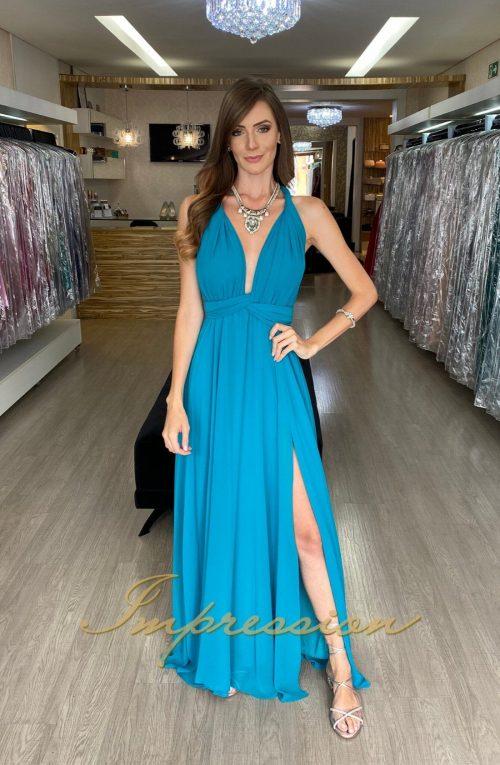 Vestido de Festa Longo Petróleo Infinity Dress